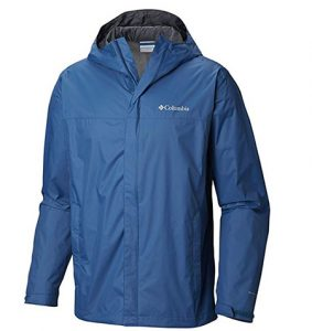 Blue rain jacket for men
