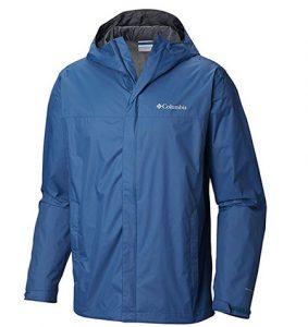 Blue rain jacket for men
