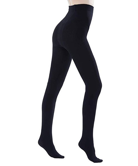 Black tights that women wear in Ireland