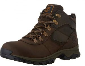 Brown waterproof boots for men traveling to Ireland