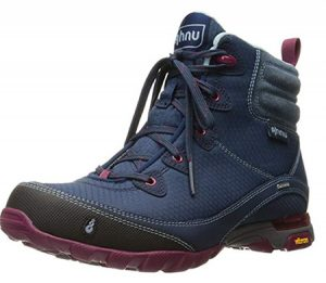 Blue waterproof boots for women traveling to Ireland