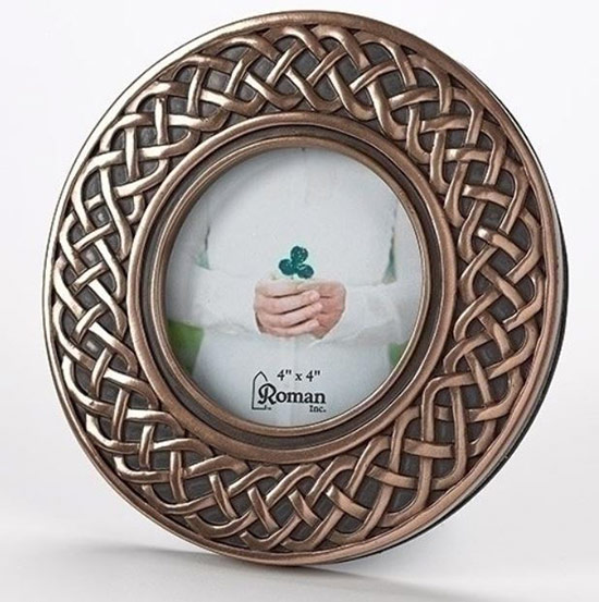 Celtic bronze photo frame