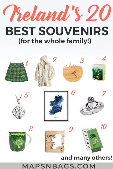Collage of Irish things - Pinterest graphic