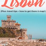 Lisbon beaches Pinterest graphic