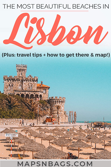 Looking for the best beaches in Lisbon Portugal? Then check out this complete guide with all information you need for the summer: things to do in many beaches including Cascais, beautiful photography, surfing spots (the best in Europe!), and a map! Check it out! Best beaches in Lisbon | best beaches near Lisbon | Beaches in Setubal | Beaches in Portugal | Summer in Lisbon #Lisbon #beaches #guide #Portugal #Europe #Summer #Mapsnbags