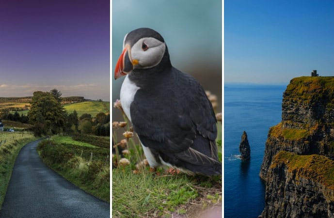 Collage of images for a 7 day Ireland itinerary