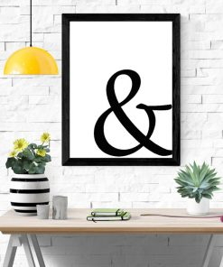 Mockup Ampersand wall art