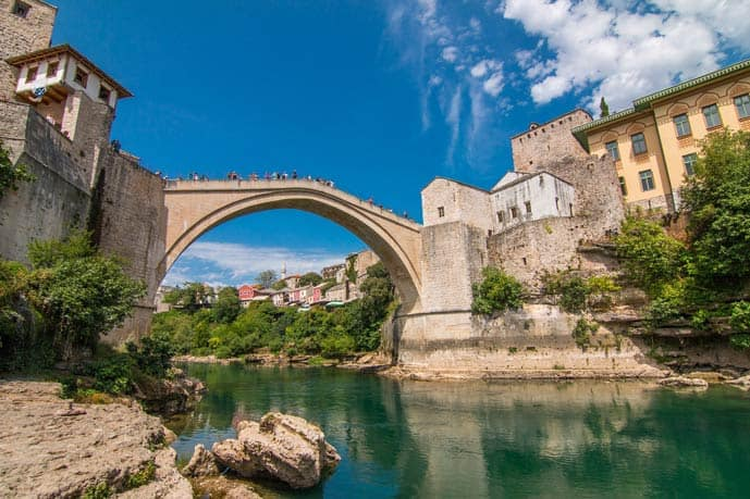 Quiz Mostar Bridge in Bosnia