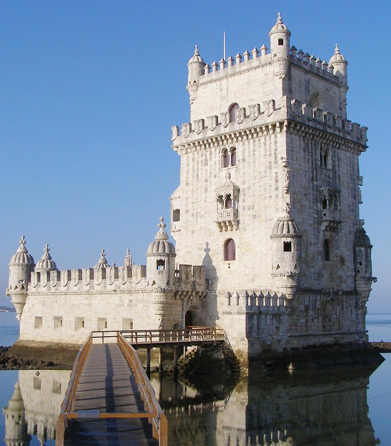 Belem tower in Lisbon on a sunny day