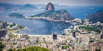 View of the sugar loaf in Rio de Janeiro