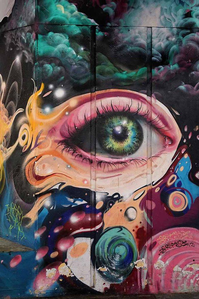 Graffiti of an eye in Lisbon