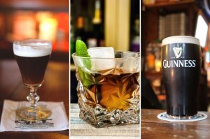 Collage of Irish drinks