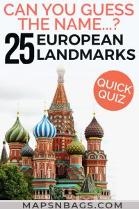 Quiz European Landmarks Pinterest Graphic