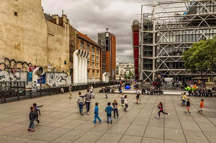 Four days in Paris, visit the Pompidou Center