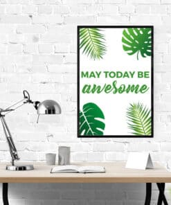 Mockup Awesome Day wall art