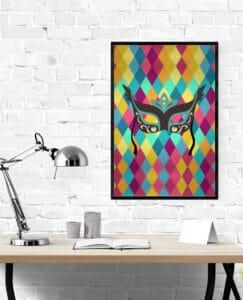 Mockup Mask Carnival wall art