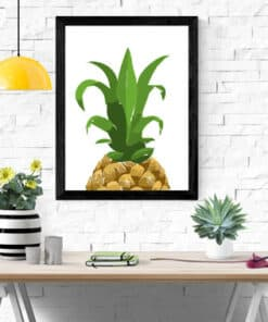 Mockup Half Pinneaple wall art