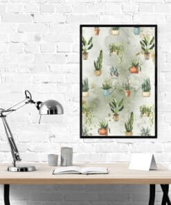 Mockup Plants wall art