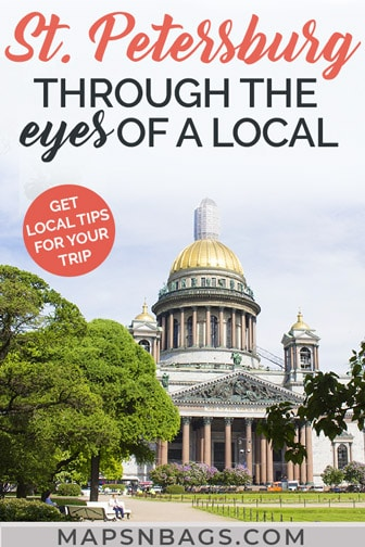 Pinterest graphic of St Petersburg, Russia
