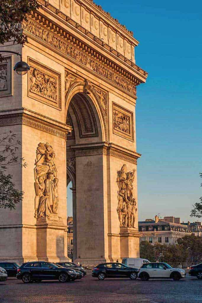 Four days in Paris, visiting the Arc de Triomphe is a must