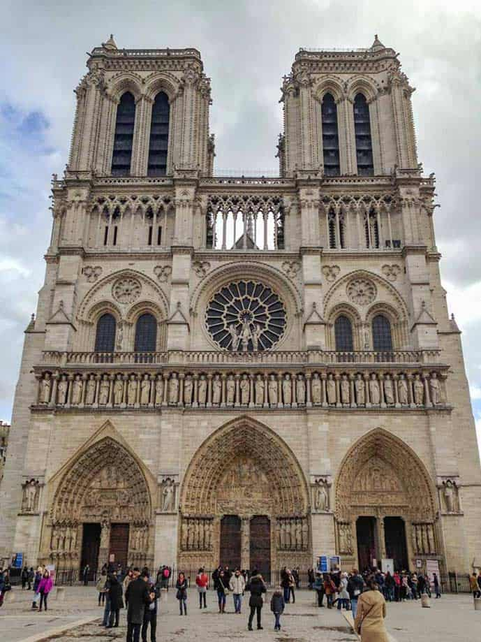 Paris 4 day itinerary, visit the Notre Dame