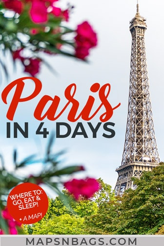 Pinterest graphic of 4 days in Paris itinerary