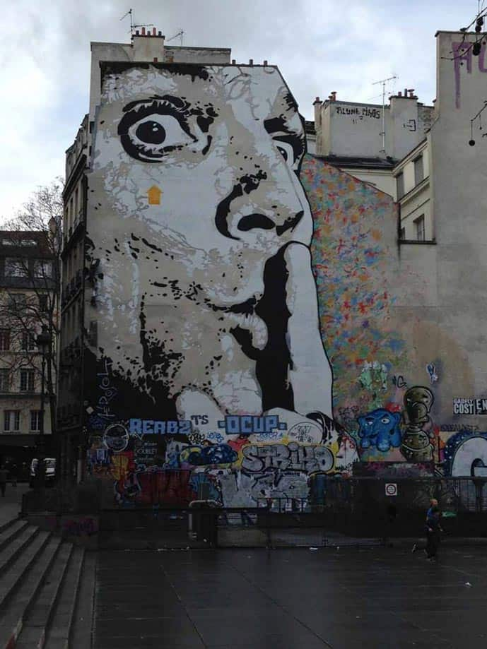 Four days in Paris, graffiti near the Pompidou Center