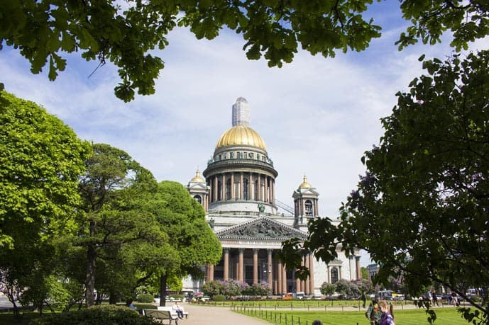 St Isaac's Cathedral in St Petersburg, Russia