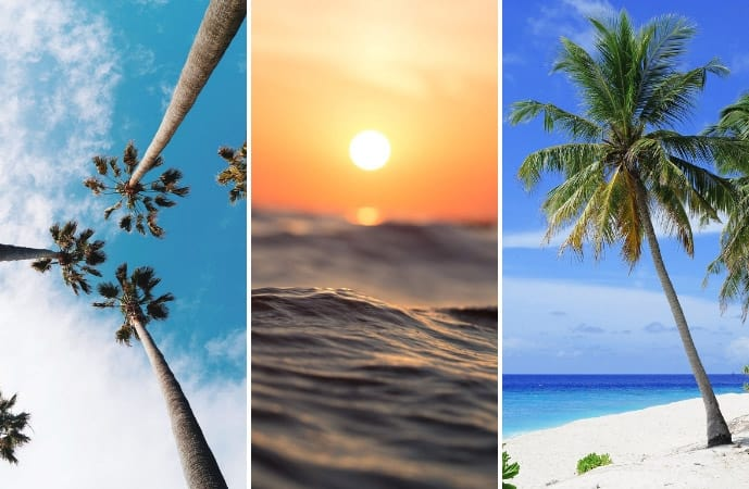 Collage of images of the Caribbean island of Saint Lucia