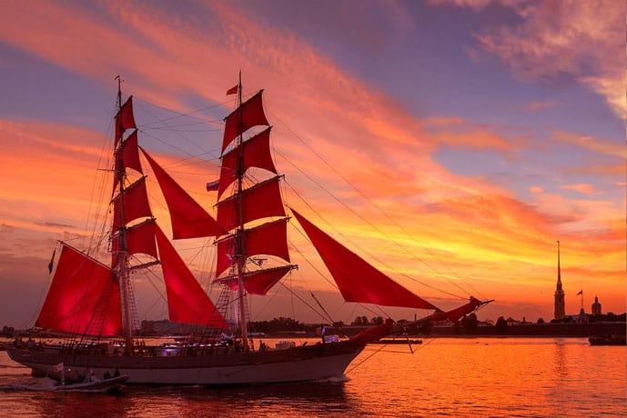 Scarlet Sails in St Petersburg, Russia