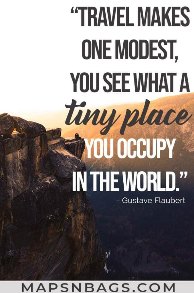 Image with a quote on exploring the world written on it
