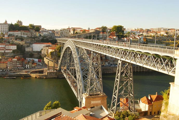 Porto or Lisbon: Porto main bridge over river