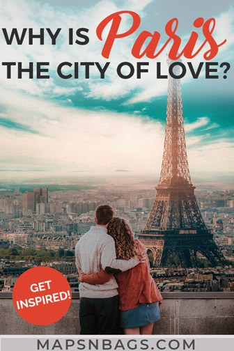 Is Paris the City of Love? A couple starring at the Eiffel Tower in this romantic city.