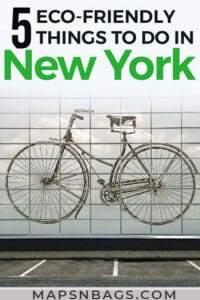 Pinterest graphic - 5 eco-friendly things to do in New York