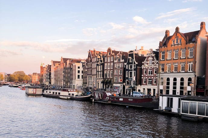 Walking along the canals is one of the most romantic things to do in Amsterdam