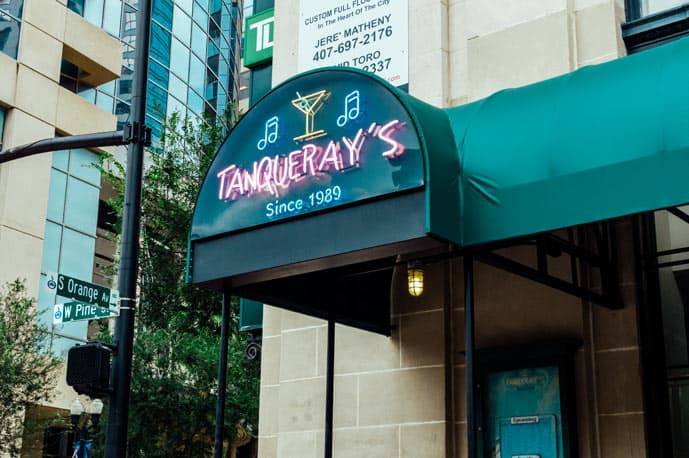 Tanqueray's is a local dive bar favorite in Downtown that is one of the few bars in Orlando where you can find live music every day of the week