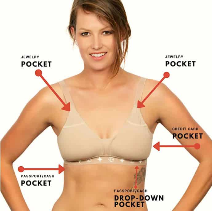 A travel bra is an essential female accessory