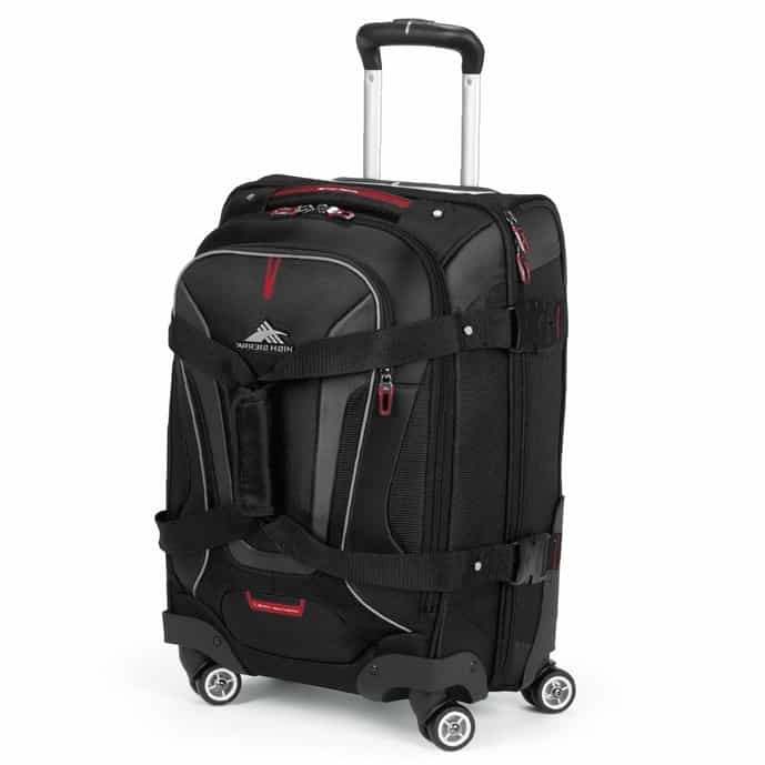 Black backpack with wheels from High Sierra