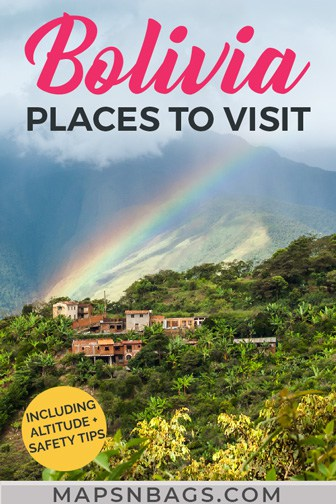 Places to visit in Bolivia Pinterest graphic