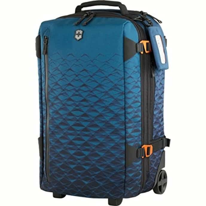 Blue backpack with wheels from Victorinox