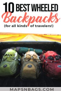 Pinterest graphic travel backpack with wheels