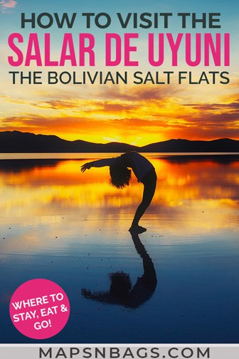 Salar de Uyuni salt flats Pinterest graphic