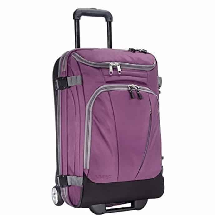 Purple rolling backpack from eBags