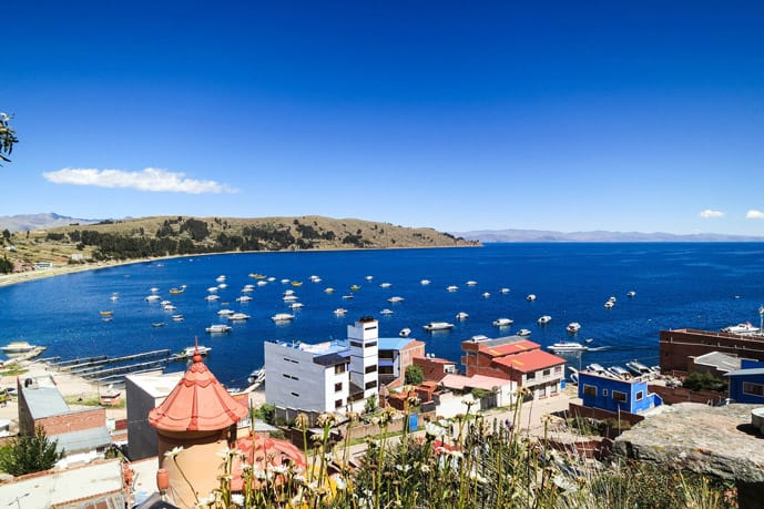 Lake Titicaca in Copacabana, Bolivia