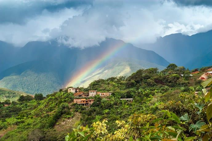 Rainbow in Coroico