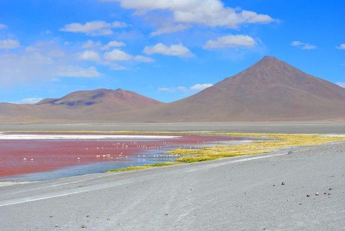 Red Lagoon at Salar de Uyuni