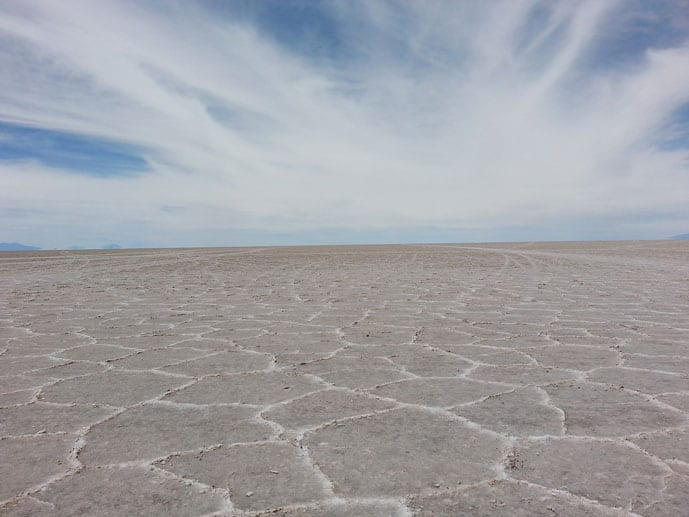 Dry months at Salar de Uyuni salt flats