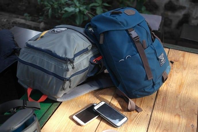 Travel rolling backpacks