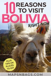 Reasons to visit Bolivia Pinterest graphic