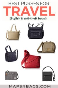 Best travel purses Pinterest graphic